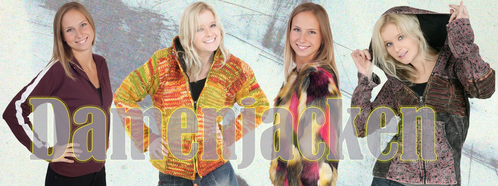 Retro Hippie Damen Jacken