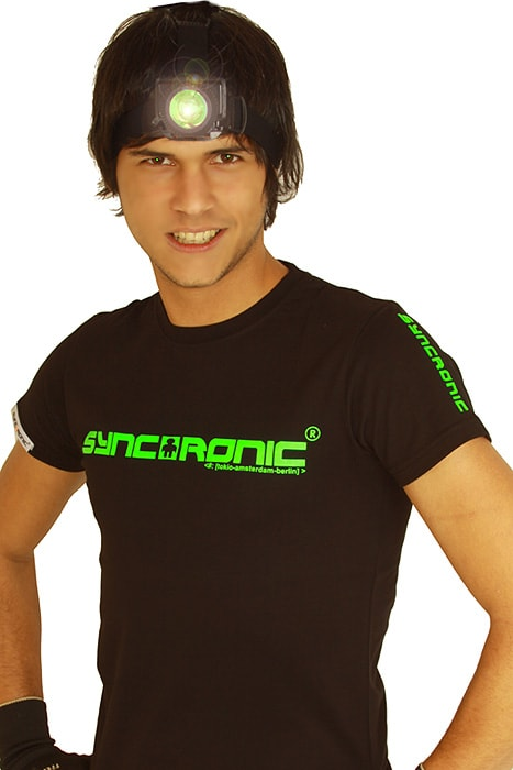 syncronic logo clubstyle shirt neon gr n. Black Bedroom Furniture Sets. Home Design Ideas