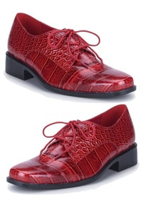 Retro look loafer burgundy