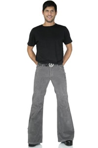 Flared corduroy pant Star light grey