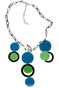 Seventies look necklace dots blue