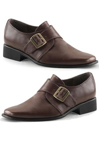 Seventies loafer brown with buckle