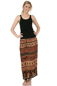Long 70s hippie GOA skirt