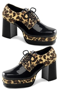 70s platform man glamrock shoe cheetah