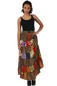 Maxi Rock Patchwork bunt