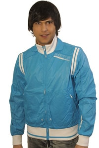 Clubwear nylon jacket Blend light blue