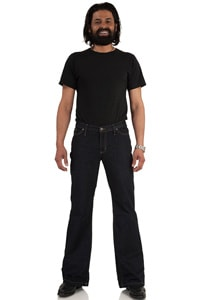 Jeans Bootcut Hose dunkelblau Star Cut Dark Denim