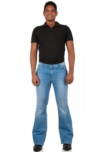 Herren Bootcut Stretch Jeans Star SkyBlue 28/34
