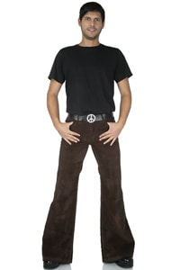 Men Low-waist bellbottom corduroy pant Star hazel