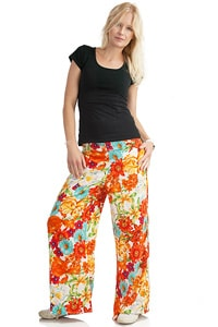 Colourful flower hippie pant