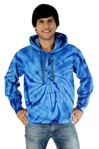 Blue Hippie GOA batik dyeing hooded shirt
