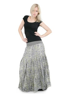 Paisley pattern hippie look long skirt