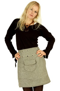 Retro 70s mini skirt grey GOA