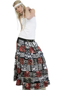 70s look hippie patchwork skirt