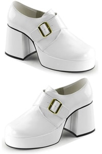 Platform loafer white with monk strap