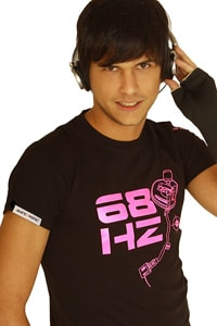 Syncronic Techno Shirt 68HZ Neon Pink L