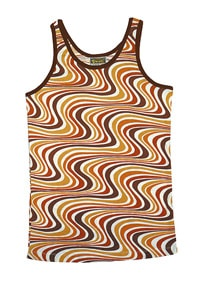 Seventies look tanktop wave pattern