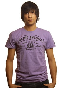 Vintage Tshirt Blend Engines Lila