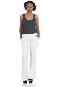 Blend She low-slung white stretch flares Nova Bess
