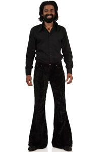Velvet bellbottom pant Star velvet black 32/34