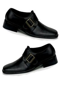 Retro look 70s loafer with buckle black L