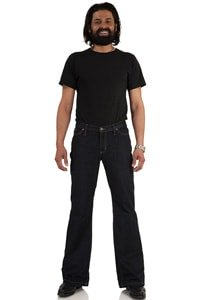 Jeans Bootcut Hose dunkelblau Star Cut Dark Denim 33/32