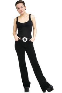 Black woman corduroy pant with bootcut flare 31/32