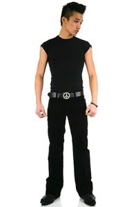 Men Bootcut corduroy pant Star black 34/36