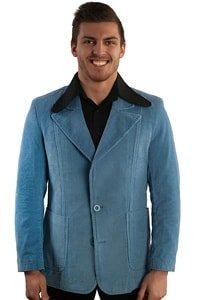 Light blue corduroy retro sack coat XXL