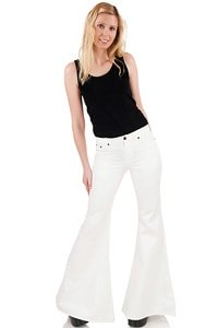 White bohemian hippie look flares super wide flared 30/34
