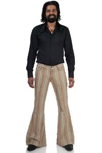 Retro 70s corduroy flared pant striped