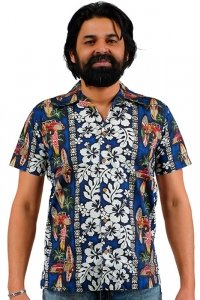 Kurzärmeliges Hawaii Hemd Aloha Retro Shirt