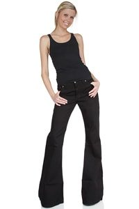 Women flared pant black low-waist 32/34