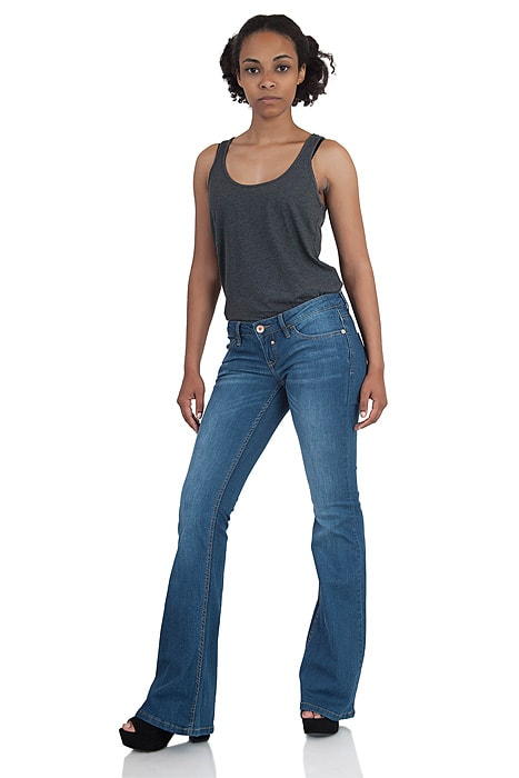 new styles e2de5 3a881 Low-slung Blend She stretch flared jeans Glow Jady